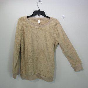 Leo Rosi Sherpa Sweater Tan women's Med